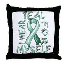 I Wear Teal for Myelf Throw Pillow