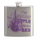 Im Rockin Purple for my Dad.png Flask