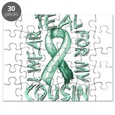 I Wear Teal for my Cousin Puzzle