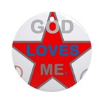 OYOOS God Loves Me design Ornament (Round)