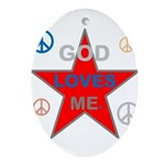 OYOOS God Loves Me design Ornament (Oval)