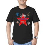 OYOOS God Loves Me design Men's Fitted T-Shirt (da