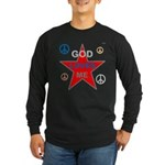 OYOOS God Loves Me design Long Sleeve Dark T-Shirt