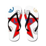 OYOOS God Loves Me design Flip Flops