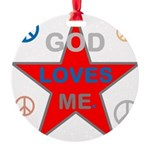 OYOOS God Loves Me design Round Ornament