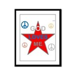 OYOOS God Loves Me design Framed Panel Print