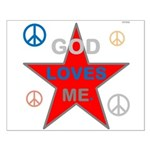 OYOOS God Loves Me design Small Poster