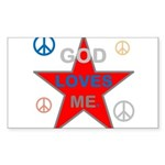 OYOOS God Loves Me design Sticker (Rectangle 10 pk