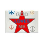 OYOOS God Loves Me design Rectangle Magnet (100 pa