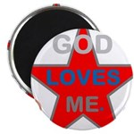 OYOOS God Loves Me design Magnet