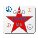 OYOOS God Loves Me design Mousepad