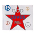 OYOOS God Loves Me design Throw Blanket