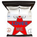 OYOOS God Loves Me design King Duvet