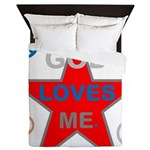 OYOOS God Loves Me design Queen Duvet