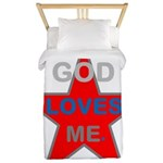 OYOOS God Loves Me design Twin Duvet