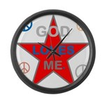 OYOOS God Loves Me design Large Wall Clock