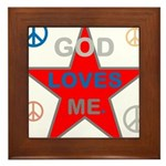 OYOOS God Loves Me design Framed Tile