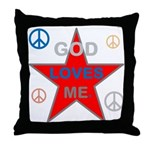 OYOOS God Loves Me design Throw Pillow