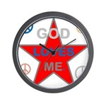 OYOOS God Loves Me design Wall Clock