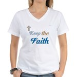 OYOOS Faith design Women's V-Neck T-Shirt