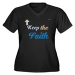 OYOOS Faith design Women's Plus Size V-Neck Dark T