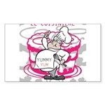 OYOOS Cook Cakes design Sticker (Rectangle)