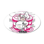 OYOOS Cook Cakes design 20x12 Oval Wall Decal