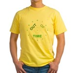 OYOOS Out Of Time design Yellow T-Shirt