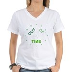 OYOOS Out Of Time design Women's V-Neck T-Shirt