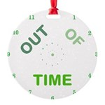OYOOS Out Of Time design Round Ornament
