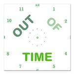 OYOOS Out Of Time design Square Car Magnet 3