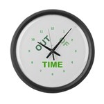 OYOOS Out Of Time design Large Wall Clock