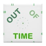 OYOOS Out Of Time design Tile Coaster