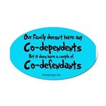 codefendants Oval Car Magnet