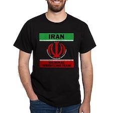 Iran National Wrestling Team (black) T-Shirt