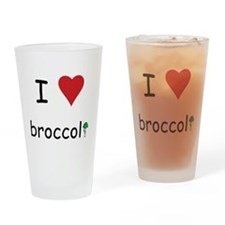 I Love Broccoli Drinking Glass