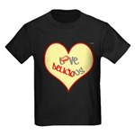OYOOS Love Heart design Kids Dark T-Shirt