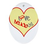 OYOOS Love Heart design Ornament (Oval)