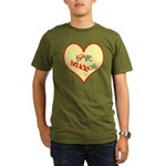 OYOOS Love Heart design Organic Men's T-Shirt (dar