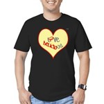 OYOOS Love Heart design Men's Fitted T-Shirt (dark