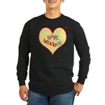 OYOOS Love Heart design Long Sleeve Dark T-Shirt