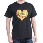 OYOOS Love Heart design Dark T-Shirt