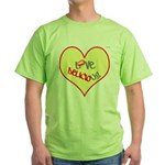 OYOOS Love Heart design Green T-Shirt