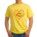 OYOOS Love Heart design Yellow T-Shirt