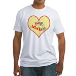 OYOOS Love Heart design Fitted T-Shirt