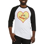 OYOOS Love Heart design Baseball Jersey