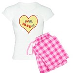 OYOOS Love Heart design Women's Light Pajamas