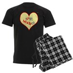 OYOOS Love Heart design Men's Dark Pajamas