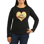 OYOOS Love Heart design Women's Long Sleeve Dark T