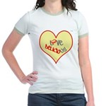 OYOOS Love Heart design Jr. Ringer T-Shirt